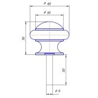 Упор дверной DS-0011-AC Apecs