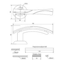 Ручки дверные H-0597-Z-GM/CF Apecs Premier