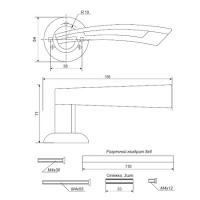 Ручки дверные H-0599-A-CF Apecs Premier