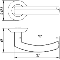 Ручки дверные ALFA TL SN/CP-3 Punto