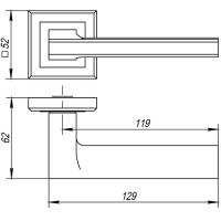 Ручки дверные BLADE QL SN/CP-3 Punto
