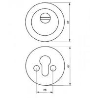 Броненакладка цилиндровая (врезная)