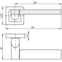 Ручки дверные GALAXY QR SN/CP-3 Punto