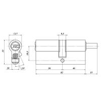 Цилиндровый механизм Гардиан GB 82(36/46V) Ni (никель)