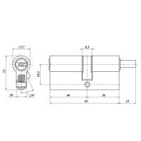 Цилиндровый механизм Гардиан GB 82(46/36V) Ni (никель)
