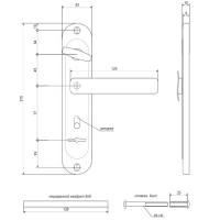 Ручки на планке Apecs HP-77.0323-S-C-CR-R