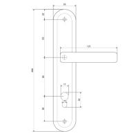 Ручки на планке Apecs HP-85.0423-AB
