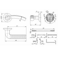 Ручки дверные LOGICA TL SN/CP-3 Punto (квадрат 140мм)