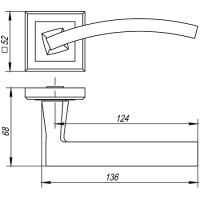 Ручки дверные NAVY QL CF-17 Punto