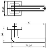 Ручки дверные NOVA QR SN/WH-19 Punto