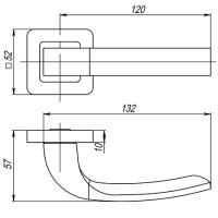 Ручки дверные ORION QR SN/CP-3 Punto
