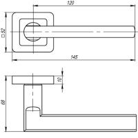 Ручки дверные PLUTON QR GR/CP-23 Punto