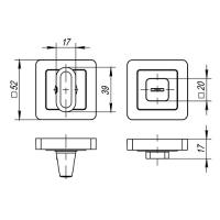 Ручка поворотная Punto BK6 QR SN/CP-3 (мат. никель/хром)