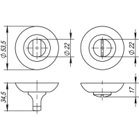 Ручка поворотная Punto BK6 TL ABG-6 (бронза)