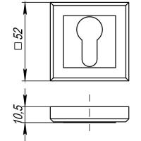 Накладки под цилиндр Punto ET QL ABG-6 (бронза)