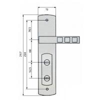 Ручки на планке ML-300 Quatro (правая)
