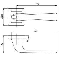 Ручки дверные SATURN QR GR/CP-23 Punto