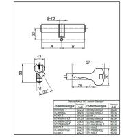Цилиндровый механизм SC-70-G Apecs