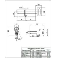 Цилиндровый механизм SM-80-C-G Apecs