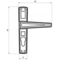 Ручки на планке Зенит РФ1-55.01 (никель)
