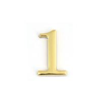 Цифра дверная Apecs DN-01-1-Z-G (золото)