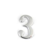 Цифра дверная Apecs DN-01-3-Z-CR (хром)