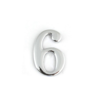 Цифра дверная Apecs DN-01-6-Z-CR (хром)