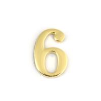 Цифра дверная Apecs DN-01-6-Z-G (золото)