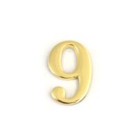 Цифра дверная Apecs DN-01-9-Z-G (золото)