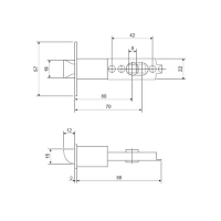 Ручка-защелка APECS 0891-05-CRM (мат. хром)