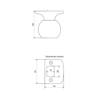 Ручка-защелка AVERS 6072-05-W (белая)