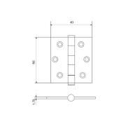 Петля универсальная AVERS 60*40-NIS (мат. никель)