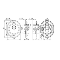 Броненакладка ARMADILLO ET/ATC-Protector 2-33 CP-8 (хром)