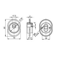 Броненакладка FUARO DEF 9726 CP-8 (хром)
