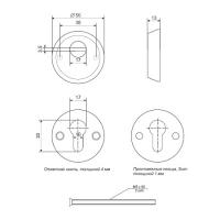 Броненакладка APECS Protector Basic-CR (хром)