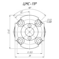 Цилиндровый механизм ЦМС-11Р для ЗН Барьер