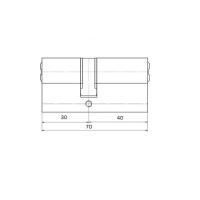 Цилиндровый механизм 70мм (30+40) латунь