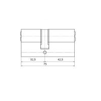 Цилиндровый механизм 75мм (32,5+42,5) латунь
