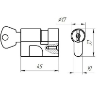 Цилиндровый механизм МЦ8-6 Зенит