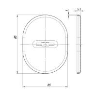 Декоративная накладка FUARO ESC 475 SN (мат. никель)