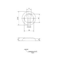 Накладки на цилиндр APECS DP-C-05-DC (тем. медь)