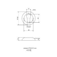 Накладки на цилиндр APECS DP-C-08-G (золото)