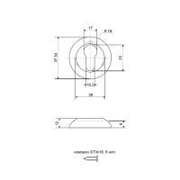 Накладки на цилиндр APECS DP-C-08-NIS (мат. никель)