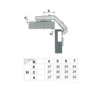 Мебельная петля H70002/0112 Boyard
