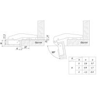 Мебельная петля H74102/2110 Boyard