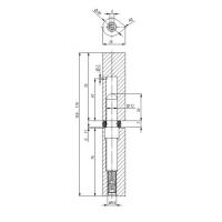 Петля приварная Fuaro T1/160-20 ADJ (регулируемая)