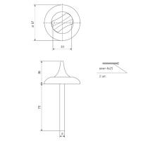 Поворотник Apecs TT-0705-8/75 AB (бронза)