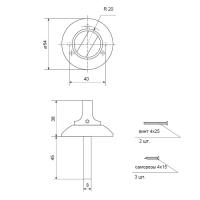 Поворотник Apecs TT-0803-8 CR (хром)