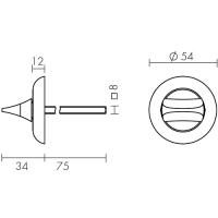 Ручка поворотная Fuaro HMR 8x75 ABG