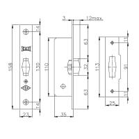 Роликовый фиксатор Kale 155B (латунь)